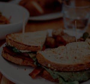 BLT Sandwich on White Plate