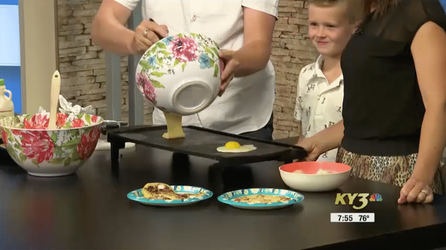 Mancakes for Breakfast! Chef Ryan and His Boys Cooking on KY3 with Sara Forhetz