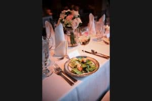 Table Setting with Salad
