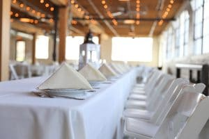White Wedding Table Settings